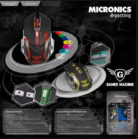 MOUSE MICRONICS SPORTING (MIC M838)