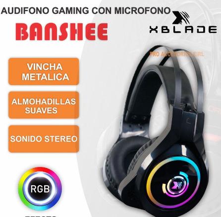 AUDIFONO GAMING CON MICROFONO BANSHEE