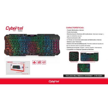 KIT TECLADO + MOUSE CYBERTEL TWISTER (CBX T1801)