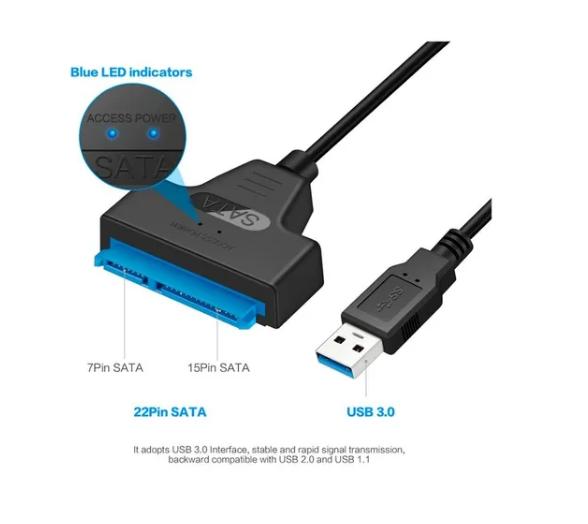 ADAPTADOR USB A SATA PARA DISCO 2.5